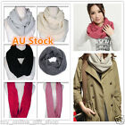 Fashion Women Winter Scarf Warm Girl Lady Knit Neck Loop Circle Wrap Acrylic New
