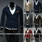 Men School Casual Slim Fit Stylish Long Sleeve Knitwear V-neck Cardigan Sweaters