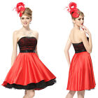 Ladies Lovely Little Black Red Short Party Prom Ball Dress 03972 Size 6 8 10 12