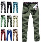 A9826 New Mens Slim Fit Skinny Straight Pencil Trousers Long Casual Pants Jeans
