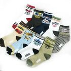 Baby Kids Boys Children Car Style Anti-Slip Socks Age 4 - 8 Years 10 Designs Lot