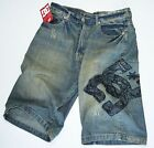 Free shipping New Mens DC Shoes Washed Denim Jeans shorts size-W32,34,36,38