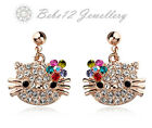 Hello Kitty Cat/Animal Earring/Dangling/Stud/Crystal/E403/344/561/420