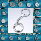 Fashion Living Memory Lockets Floating Charm Glass Silver chain necklace pendant