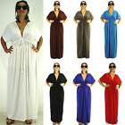 NWT Plus L XL XXL Casual Women Party Evening VNeck Full-Length Sleeve Maxi Dress