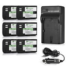 DBK LPE6 1.6Ah Battery & Charger For Canon EOS 6D 60D 7D ...