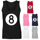 Womens 8 Ball Pool Logo Vest Tank Top NEW UK 8-18 $16.76 USD on eBay