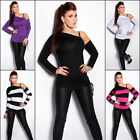 Women's Off-Shoulder Long Sleeve Top Shirt  - S/M