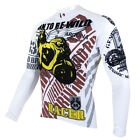 New Mens Long Sleeve Bike Wear Rider Cycling Jersey Bicycle Clothing Motor