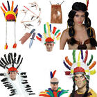 Native Indian Adults Costume Accessories Wild West Mens Ladies Fancy Dress New