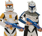 Clone Trooper + Mask Boys Fancy Dress Star Wars Kids Childs Costume Outfit New