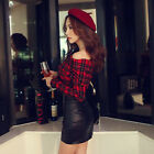 New Fashion Sexy Casual Long Sleeve Off Shoulder Shirt T-shirts Lattice Tops Hot