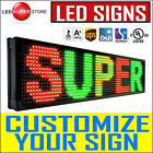 "LED Sign 12"" Tall P15mm Programmable Scrolling Outdoor Message Display Open"