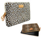 "13""14""15"" Canvas Leopard Model Laptop Sleeve Cover Case PC Bag Pouch For Acer HP"