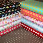 Elephant Fabric HALF METRE Mixed Colours 100% Cotton Children's Novelty.