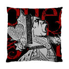 Alice In Wonderland Grunge Queen of Hearts (Red Version) Two Sided Cushion Cover