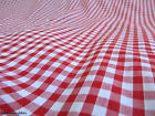 """1"""" inch RED GINGHAM CHECK POLYCOTTON FABRIC"""