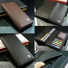 Lady's Men's Leather Bifold Card Holder Multi Pocket Purse Billfold Coin Wallet