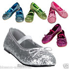S32 Glitter Ballerina Fairy Tinkerbell Cinderella Princess Child Girl Shoes Flat