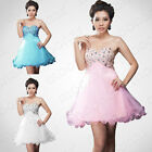 Stock Short Mini Ball Wedding Gown Cocktail Evening Prom Homecoming Party Dress