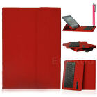 "Red Universal Bluetooth Keyboard Case Cover For 9.7"" 10"" 10.1"" 10.5"" inch Tablet"