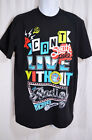 Men Black Colorful Graphic Tee Shirt South Pole Can't Live Without Radio