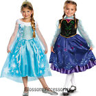 CK239 Licensed Disney Frozen Deluxe Anna Elsa Book Week Child Girls Costume