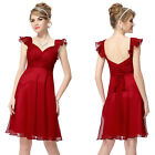 Ever Pretty New Red Ladies Short Bridesmaid Cocktail Party Prom Ball Dress 03930