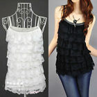 Sexy Women Ladies Casual Lace Sleeveless Bodycon Vest Tank Shirt Tops Blouse