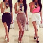 Women's Dress Sexy Asymmetrical Low Wrapped Elastic Cut out Skirt Waist Draped
