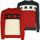 Mens USA Stars And Stripes Jumper Soulstar American Flag Theme Sweater Top BNWT