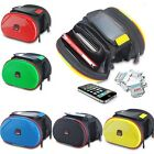 Cycling Bike Bicycle Double Pannier Mountain Frame Front Tube Bag Shell Package