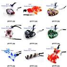 g814n01 Fashion Style Bead Lampwork Glass Murano Pendant Necklace Earrings set