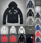 new ABERCROMBIE KIDS BOYS HOODIE size S M L XL NWT red blue gray WHITE zip