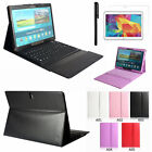 "Samsung Galaxy Tab S 10.5"" SM-T800 805 Leather Case Cove with Bluetooth Keyboard"