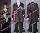 Alice In Wonderland Cosplay Johnny Depp Mad Hatter Costume Whole Set Cool New