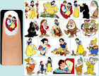 60x SNOW WHITE Nail Art Decals + Free Gems Disney And The Seven Dwarfs Witch