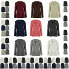 Ladies Knitted Long Chunky Cable Button Womens Grandad Long Sleeve Cardigan 8-18