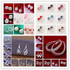 Special Price Wholesale Fashion Jewelry Womens Solid 925silver Earrings +box