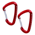 2pcs 24KN 5400lb Aluminum Wire Gate Carabiner for Climbing Quickdraw Brand New