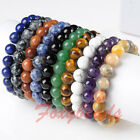 HOT Gemstone Beads Tibetan Buddha Buddhist Prayer Mala Stretchy Bracelet Bangle