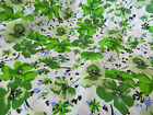 Shabby Chic Vintage retro Green  Floral  Fabric  **Per Meter/FQ**