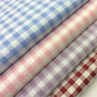 "Printed Poly Cotton - 1/4"" Gingham (60% Cotton / 40% Poly) - 58"" 142 cms wide"