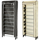 10 Tier shoe cabinet shelf rack stand storage organizer + protection cover