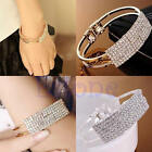 Fashion Women Elegant Wristband Bangle Crystal Cuff Bracelet Bling Hand Chain