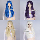 Amazing 13 Colors Long Curly Girls Women Lady Anime Cosplay Wig + Free Wig Cap