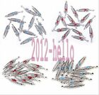 20/100PCS Antique Silver Turquoise&Red leaf Charms Pendant Findings ,27x5mm