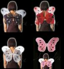 Large Adult Size Fairy Wings Black Pink Red White Marabou Feathers   42 x 36cm