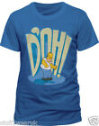 The Simpsons Homer Says DOH ! T Shirt Official Mens Blue S M L XL XXL NEW D'OH