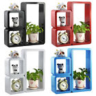 Set of 3 Floating Square Wall Storage Cubes Shelves Display for CD DVD Book New